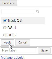 Apply the label Track QS to select keywords for quality score tracking